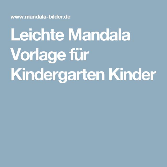 Leichte Mandala Vorlage für Kindergarten Kinder