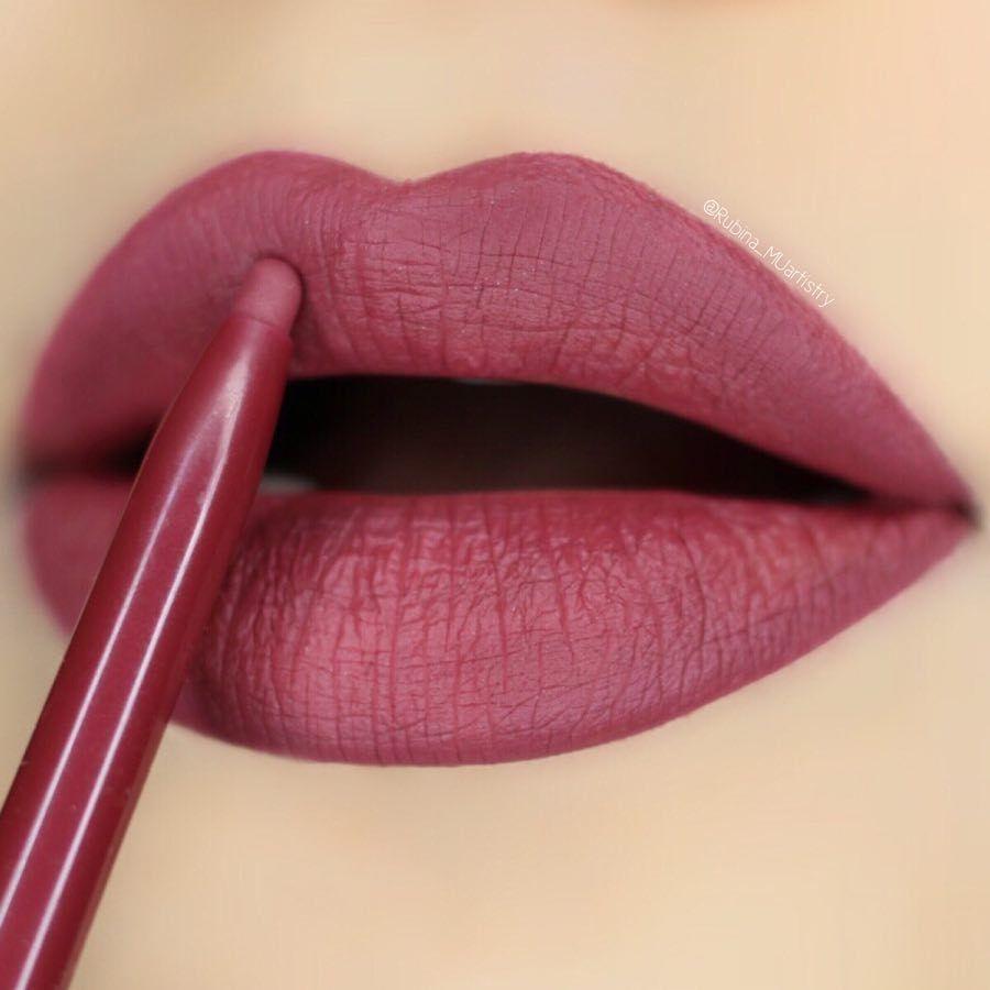 Beautiful Burgundy Shade Lipstick colors