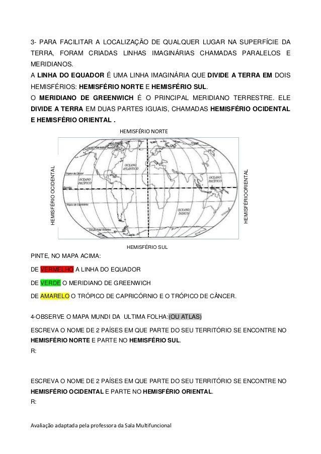 Avaliacao Geografia Atividades De Geografia Geografia