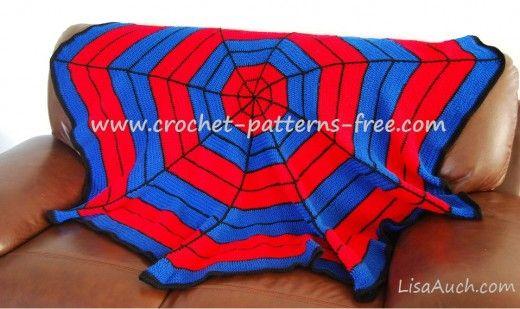Superhero Spiderman Inspired Crochet Blanket Ideas {FREE Crochet ...