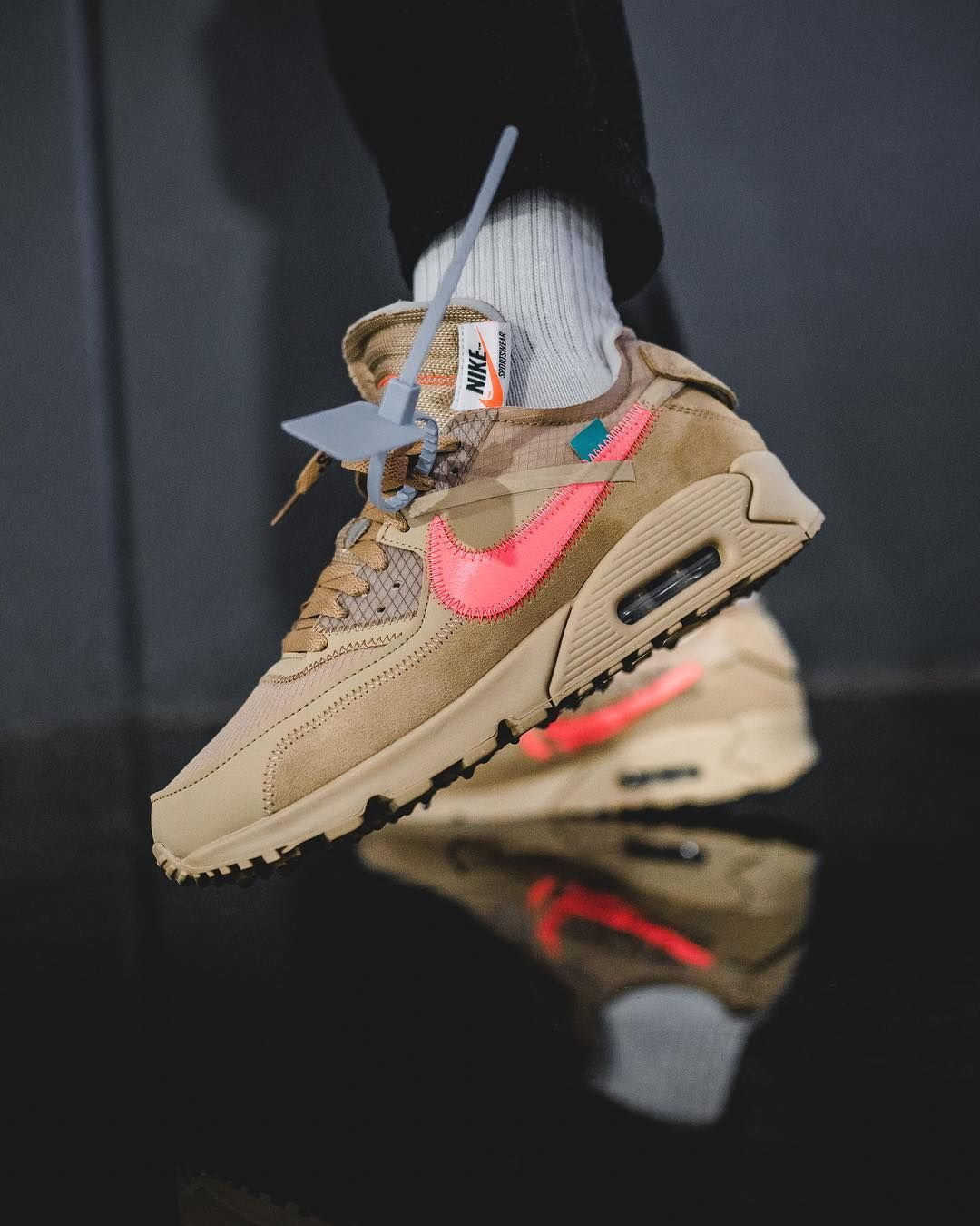 Men OFF WHITE x Nike Air Max 90 OW Black