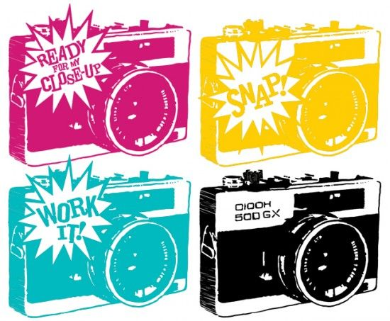 free camera art printables at:  http://stephaniecorfee.com/collaborations/take-my-picture/