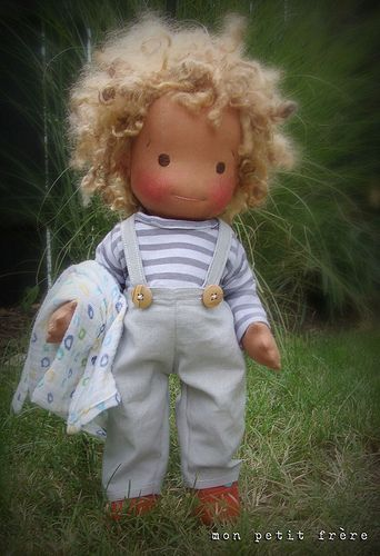 Etienne- from Mon Petit Frere - handmade natural doll