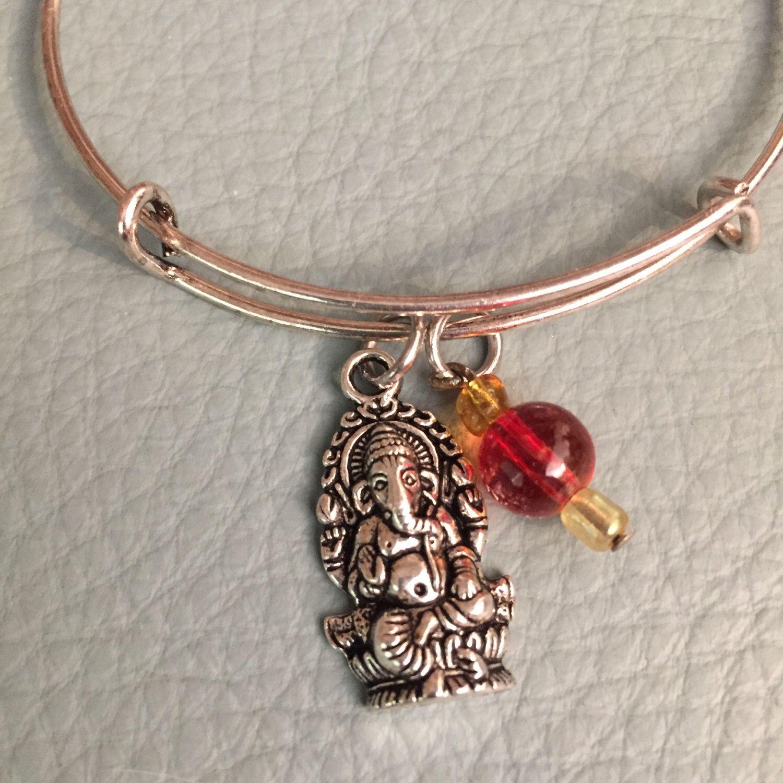 Silver Tone Ganesha Bracelet Inspired By Charm Bracelet, Inexpensive, Fast  Shipping, Spiritual, Ganesh, God Of Wisdom, Boho 2