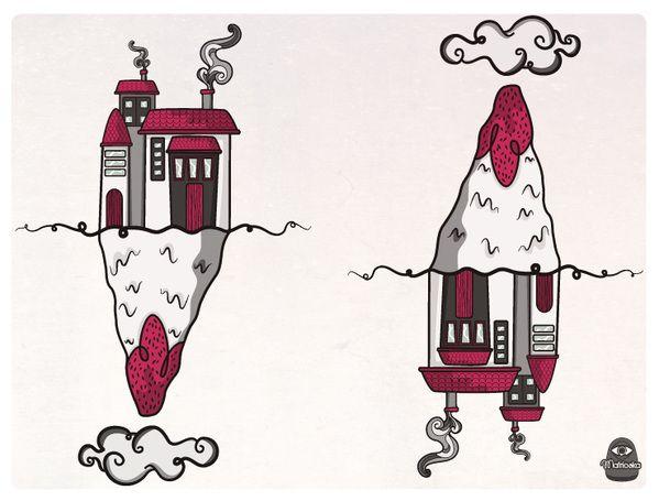 Illustrations by Fernanda Castro -Matrioska-, via Behance