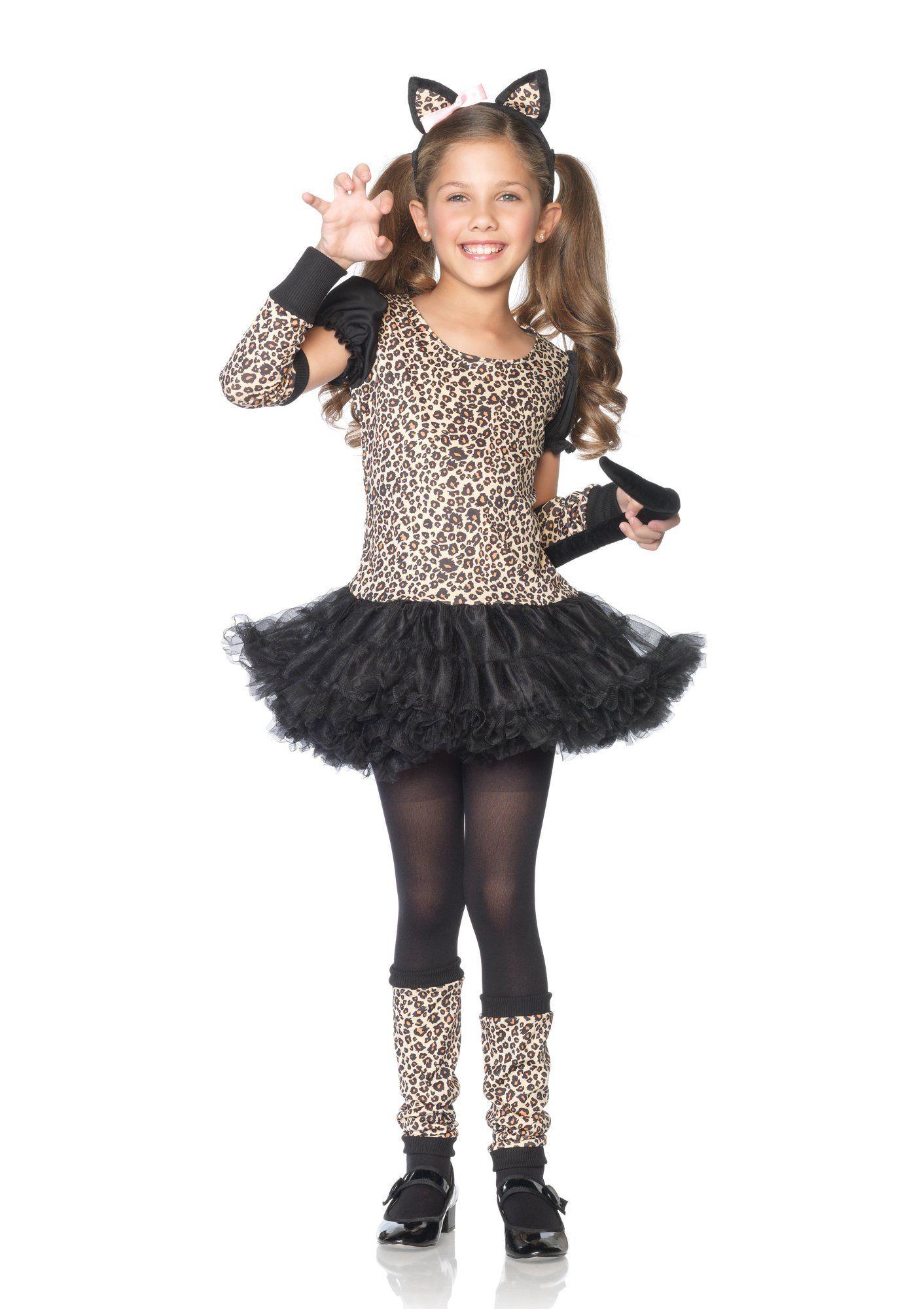 Leg Avenue Little Leopard Kids Costume (5Piece), Medium