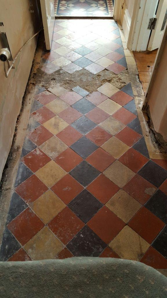 Quarry Tiled Floor Before Restoration Swansea Home Pinterest