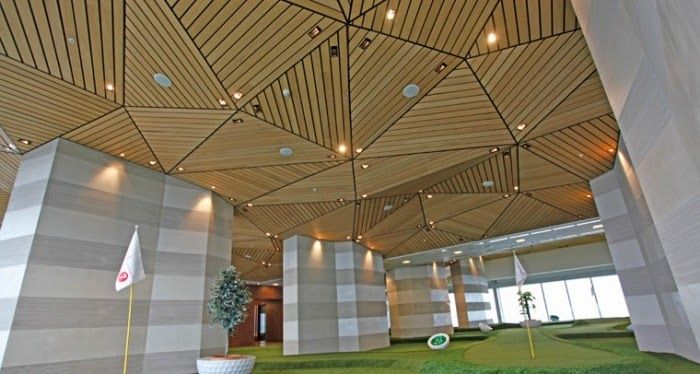 Stylish wood ceiling panels, collection from Hunted Douglas - Stylish Wood Ceiling Panels, Collection From Hunted Douglas ARCH