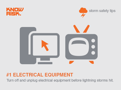 Storm Safety Tip 1 Turn Off And Unplug Electrical Equipment