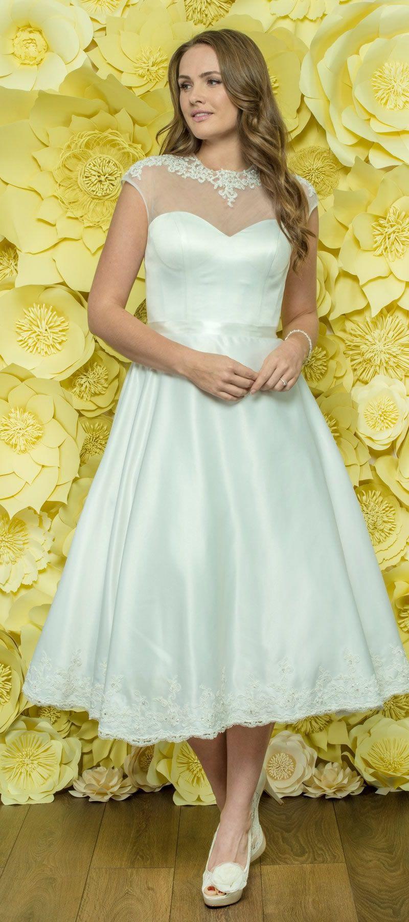 Alexia Daisy Tea Length Wedding Dress D045 Short