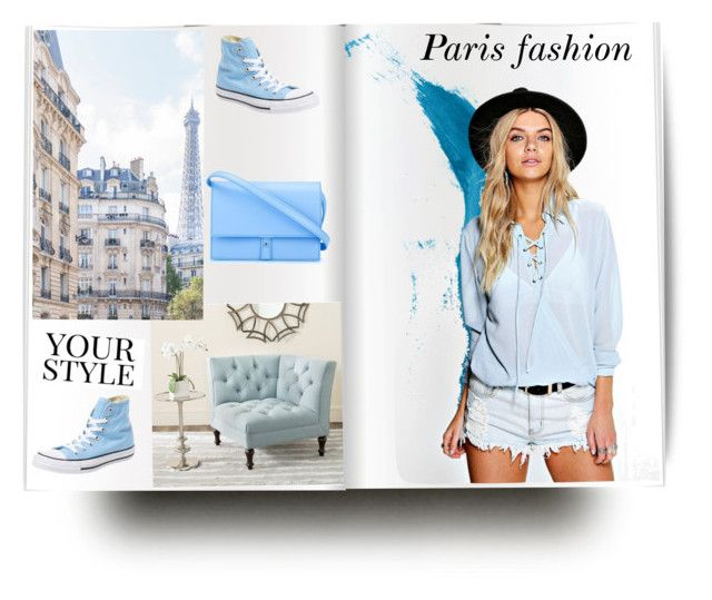 """""""Paris fashion"""" by tattooedmum on Polyvore featuring Boohoo, Converse, PB 0110, Safavieh and Pussycat"""