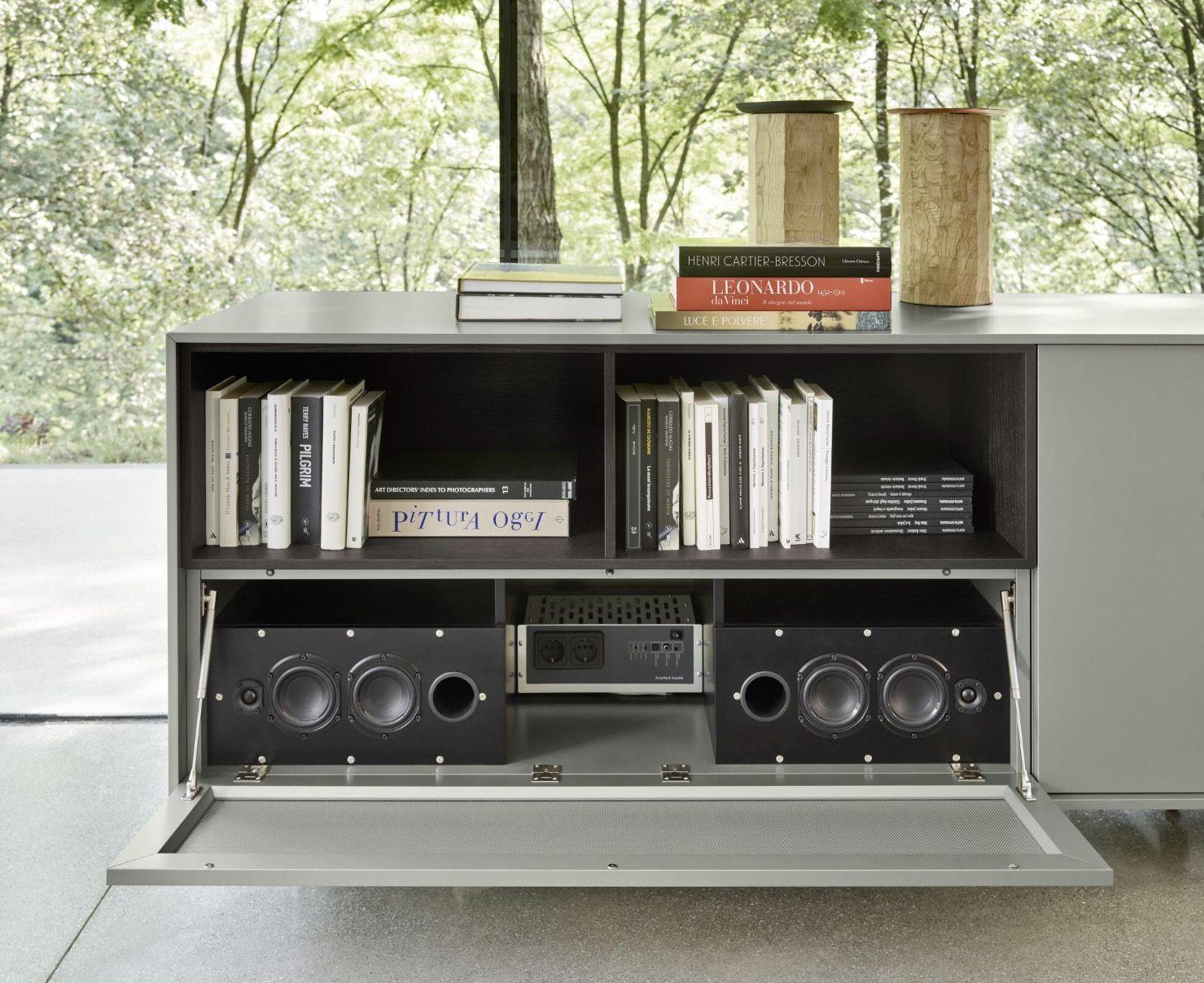 Meuble Tv En Verre Brick Par Spectral Arredaclick Meuble Tv  # Table Tv Plasma Moderne En Verre