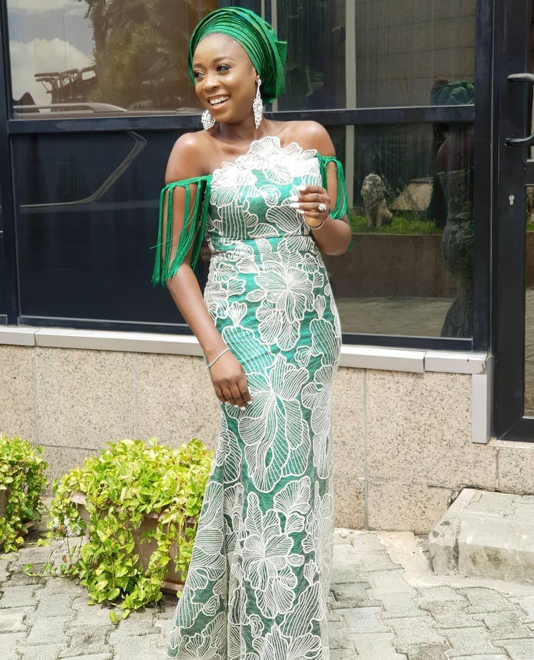Aso Ebi Styles For Wedding Guest African Lace Dresses Nigerian Wedding Fashion Aso Ebi Styles