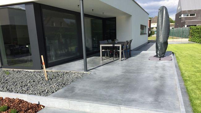 terras in gepolierde beton tuin pinterest best. Black Bedroom Furniture Sets. Home Design Ideas