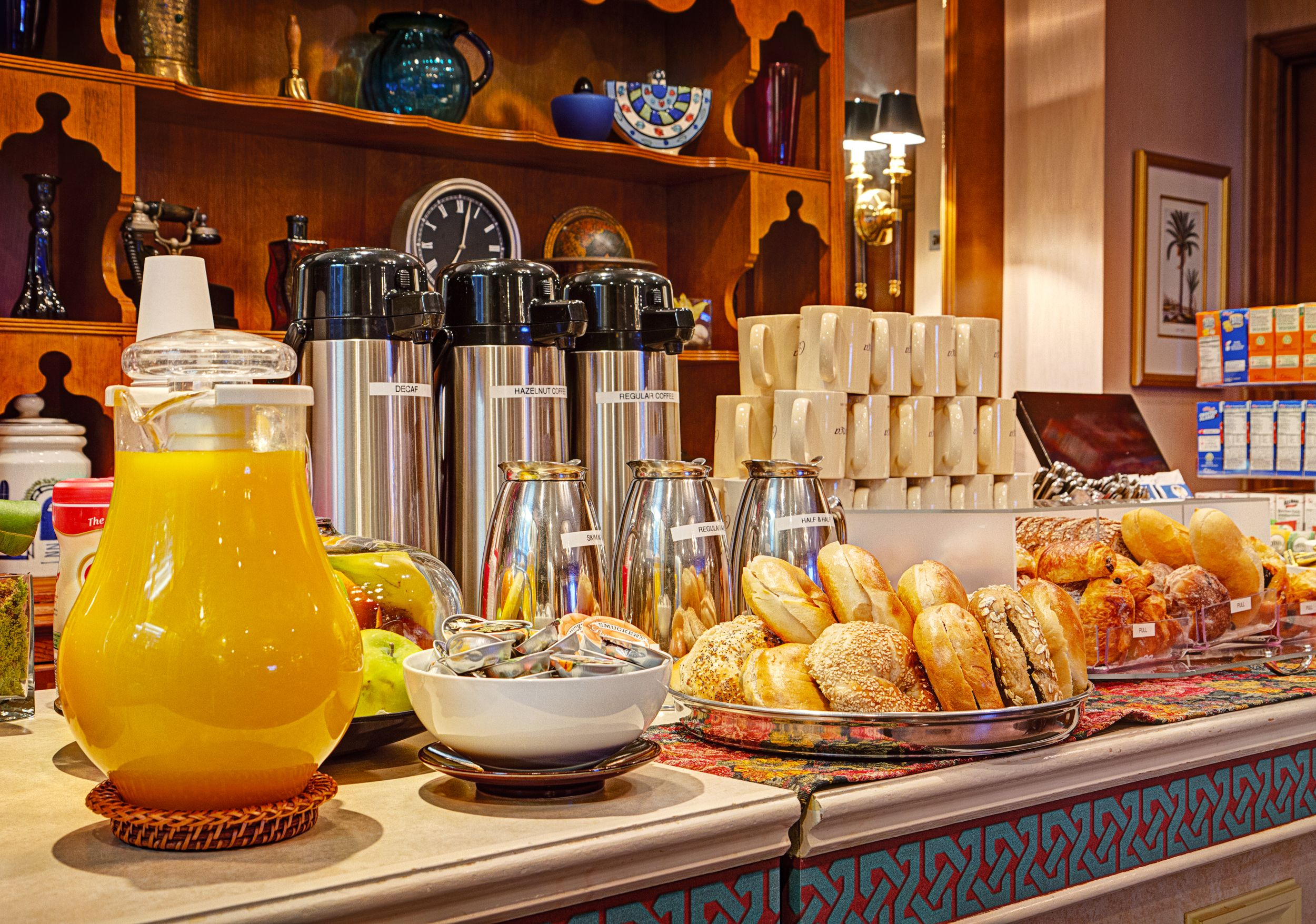 Complimentary Continental Breakfast In Rick S Cafe At The Casablancahoteltimessquare Hotel Breakfast Breakfast Buffet Continental Breakfast