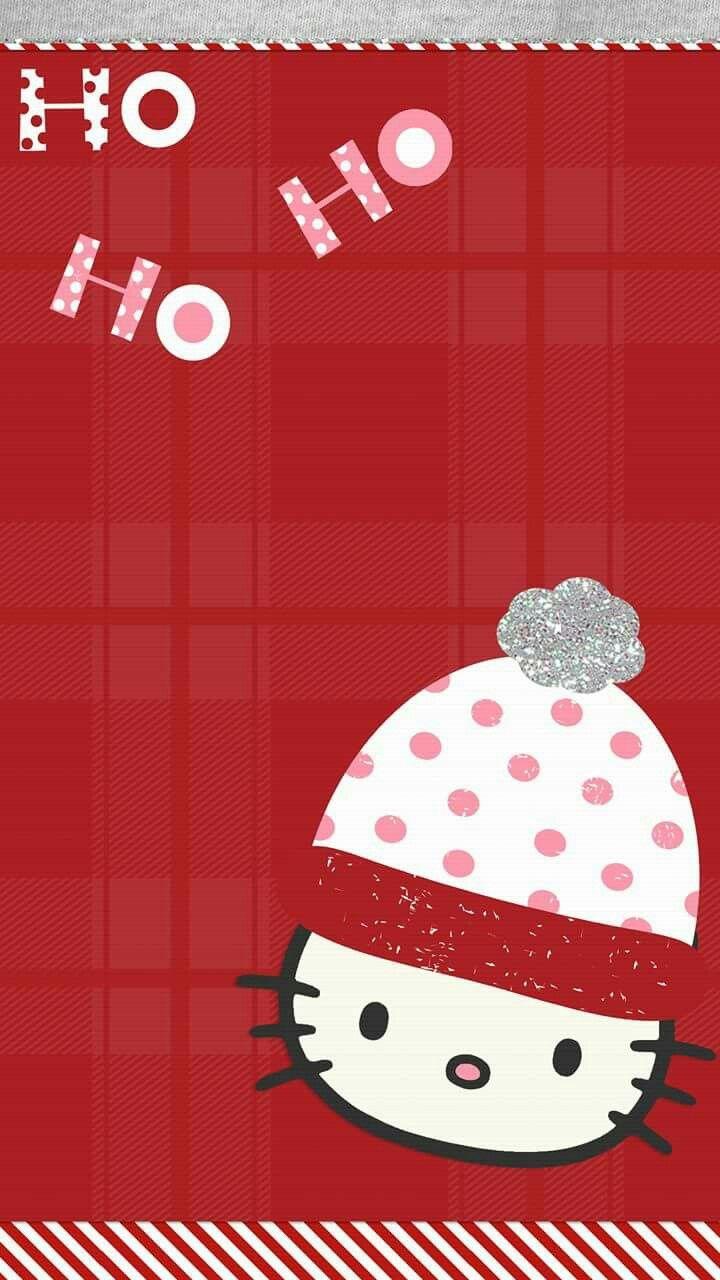 Ho Ho Ho Hello Kitty Wallpaper Hello Kitty Christmas Hello Kitty Wallpaper Cute Christmas Wallpaper