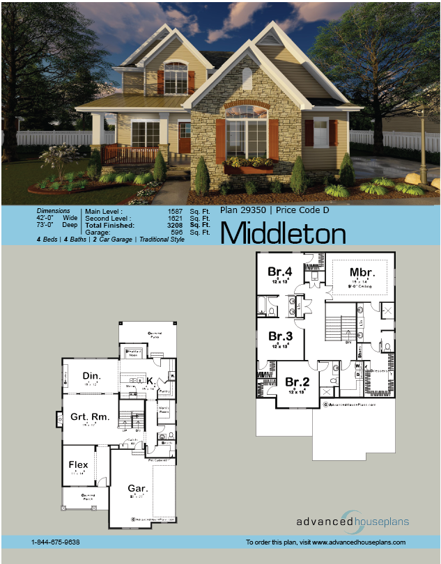 2 Story Traditional House Plan Middleton Traditional House Plan Traditional House Plans House Plans