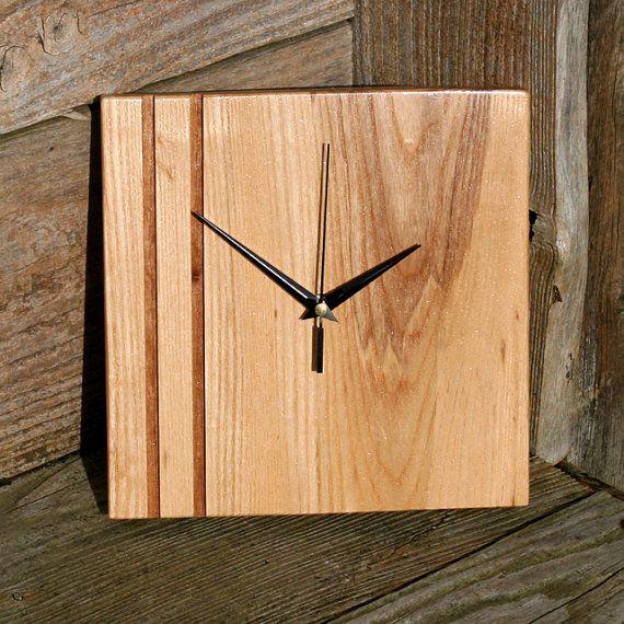 Ash & Walnut Wall Clock (Catalogue Number: 151)