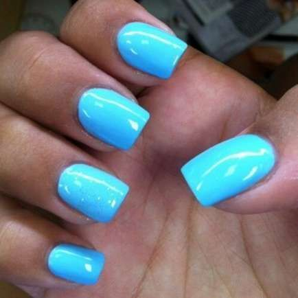 #Blue #Bright # for48 # voor #Ideas #Nagels