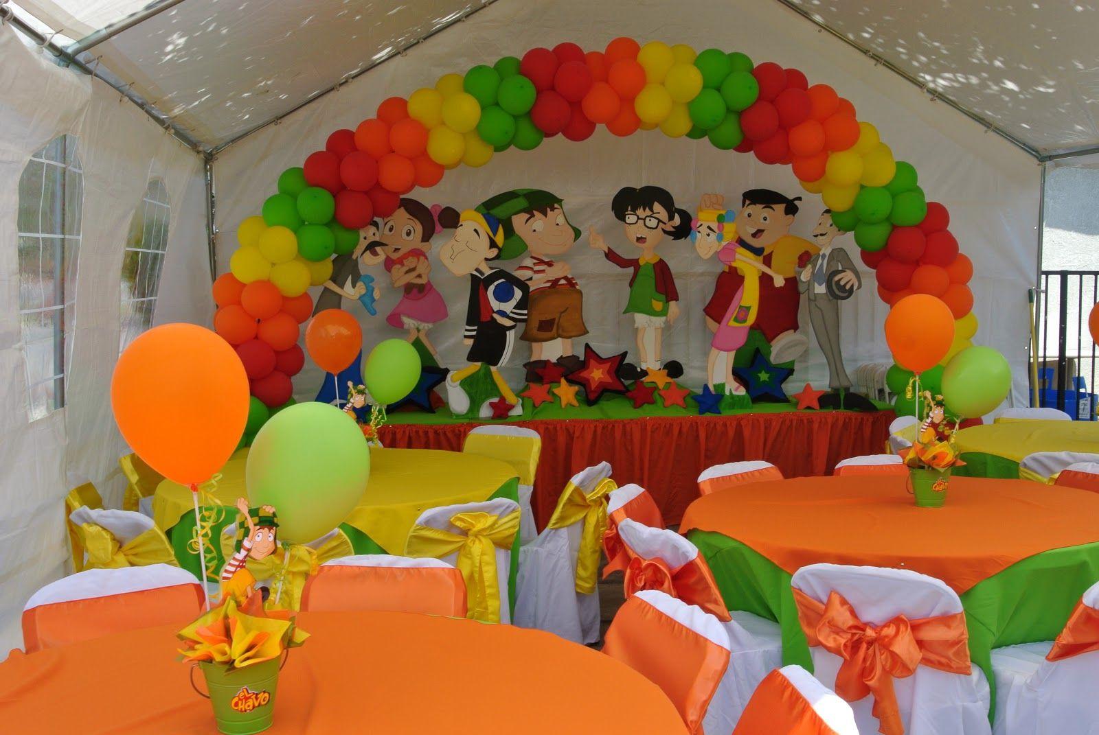 Decoraciones Para Fiestas Infantiles Del Chavo Bday Party Theme Mexican Party Theme 1st Birthday Parties