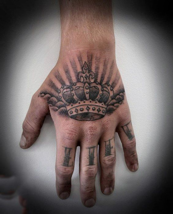 7613b5c4a 100 Crown Tattoos For Men - Kingly Design Ideas | Tattoo ideas ...