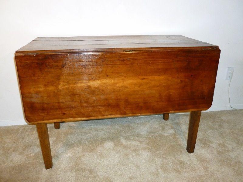 Vintage Drop Leaf Table 1930 S Cherry Wood Vintage Drop Leaf Table Drop Leaf Table Antique Drop Leaf Table