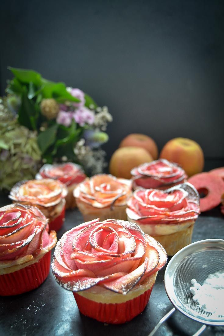 Apfelrosen Muffins Apfelrose kinderleicht gebacken