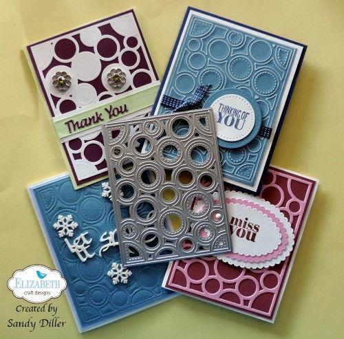 4 Easy Backgrounds 1 Great New Die Elizabeth Craft Paper