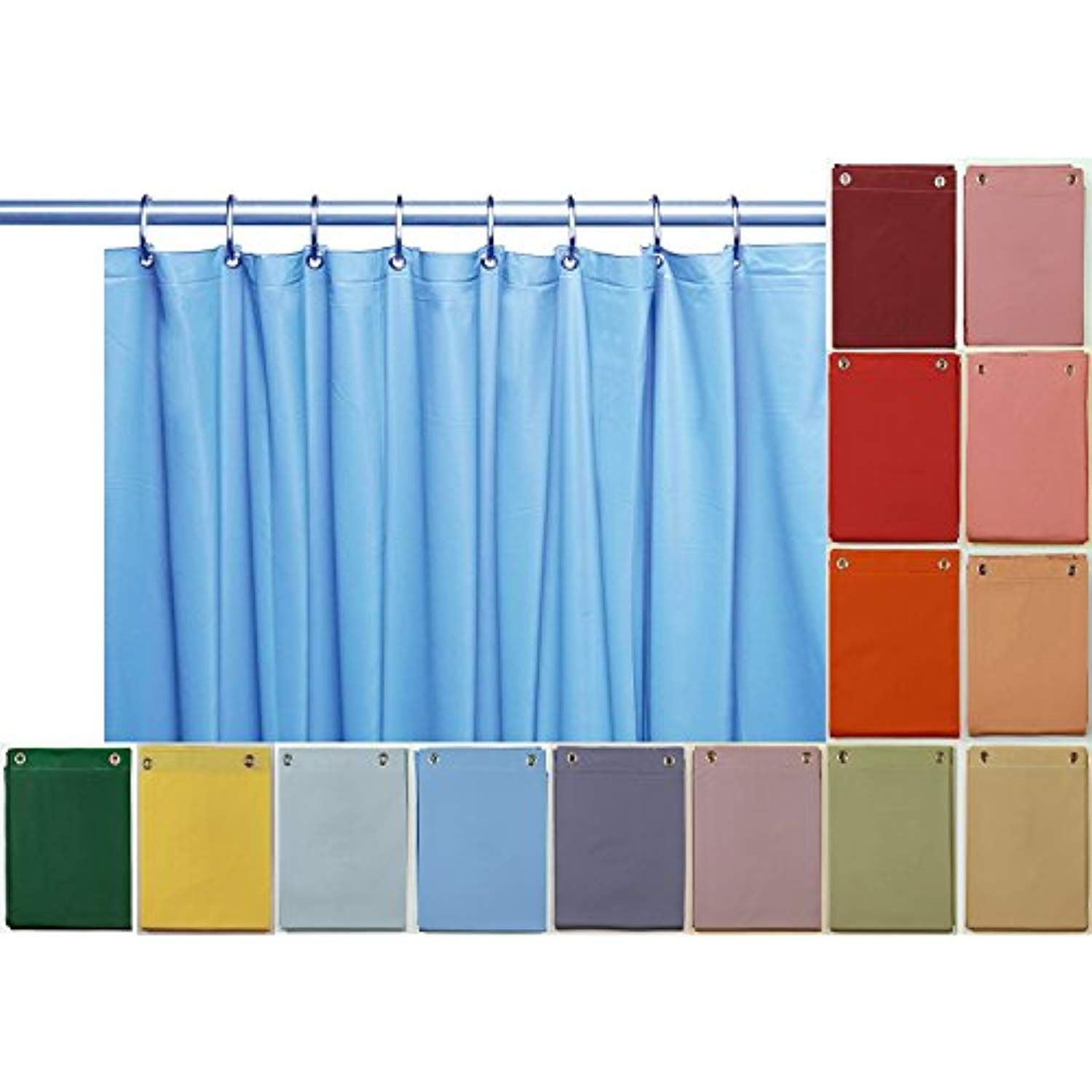 Venice elegant home heavy duty vinyl shower curtain liner with