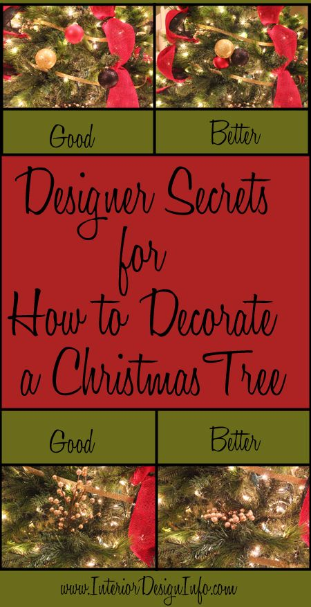 Designer Secret Tips and Tricks for Decorating a Christmas Tree - do you know all of them?