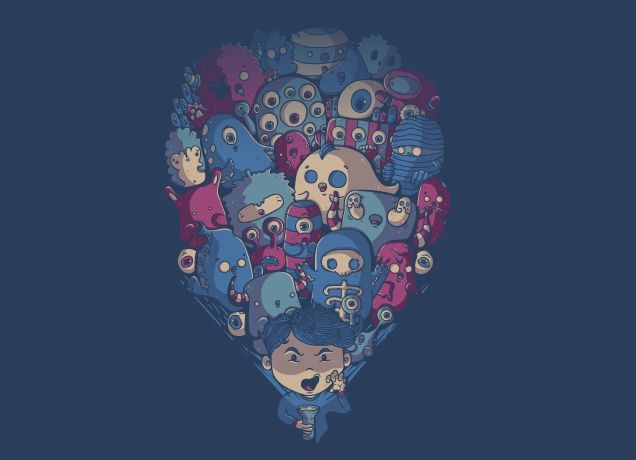 """In The Dark"" - Threadless.com - Best t-shirts in the world"