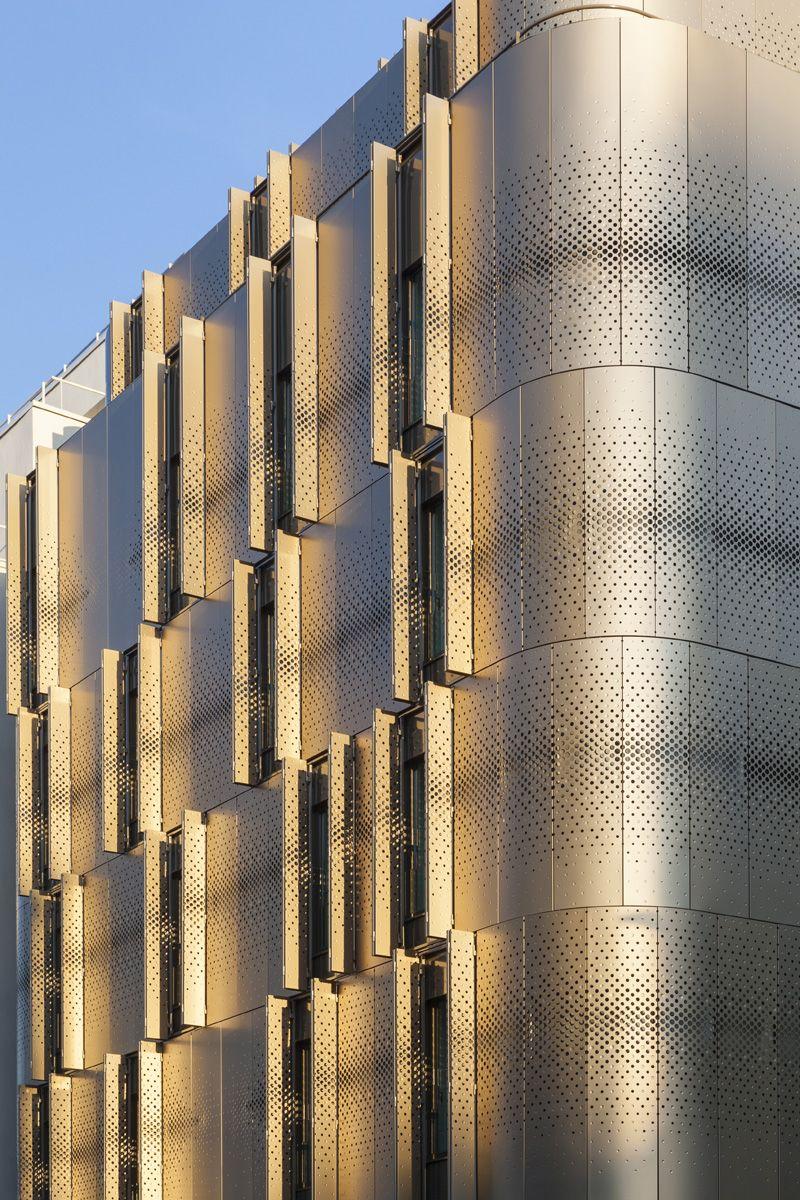 Stealthy Parisian Development Blends City Life With Garden Courtyards Metal Mesh Paris Architecture Light Architecture