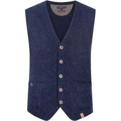 Photo of Plus size: Colors & Sons, knitted vest in blue for Men Colors & SonsColours & Sons