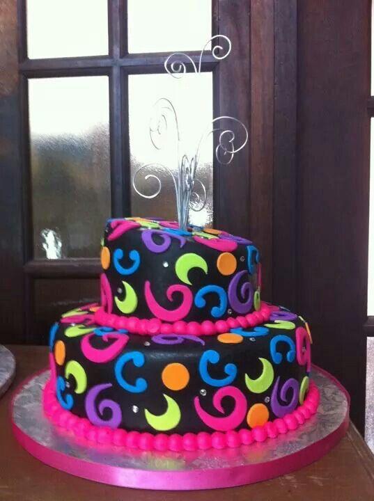 Neon Cake CAKES AND CUPCAKES IDEAS Pinterest Neon Cakes - Neon birthday party cakes