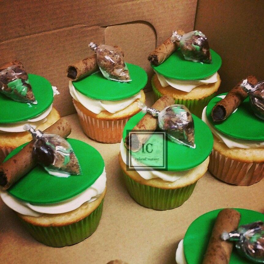 Marijuana theme cupcakes Infused creationz Pinterest Cake