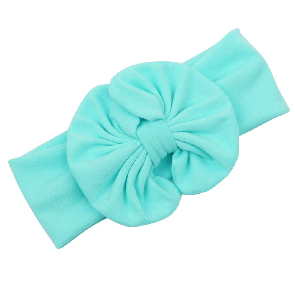 FUNOC® Girls Kids Baby Cotton Bow Hairband Headband Stretch Turban Knot Head Wrap Cute. Stretch cotton.