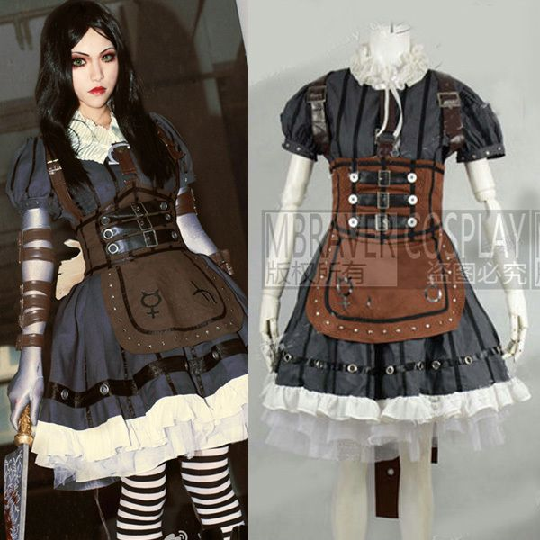 c4983d2f72dfd Click to Buy << Alice Madness Returns Cosplay Costume Steamdress ...