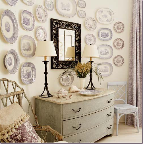 10 originales ideas para decorar las paredes de casa - Platos decorativos pared ...