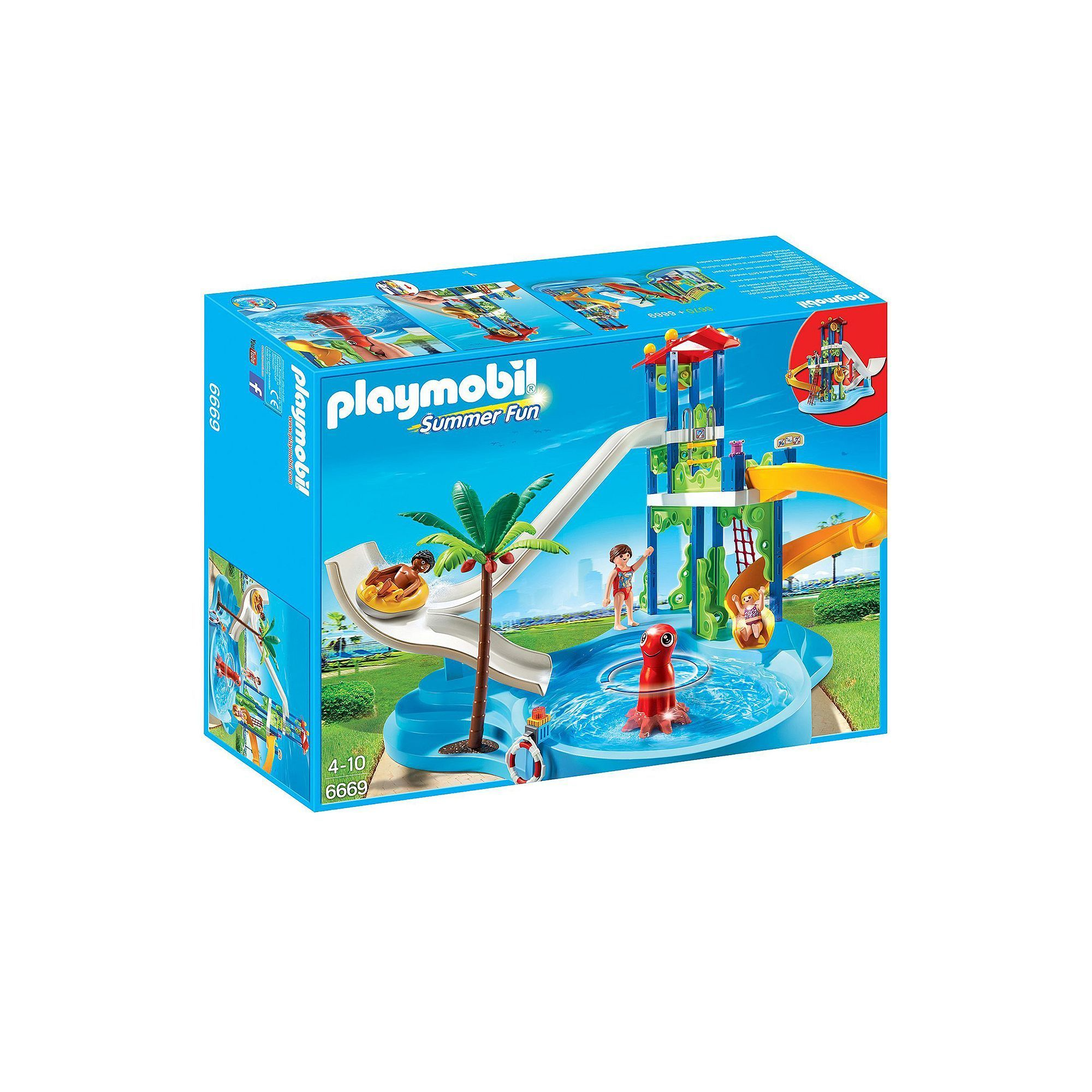 Zwembad Playmobil 4858 Playmobil Water Park Slides Set 6669 Products Fun Water