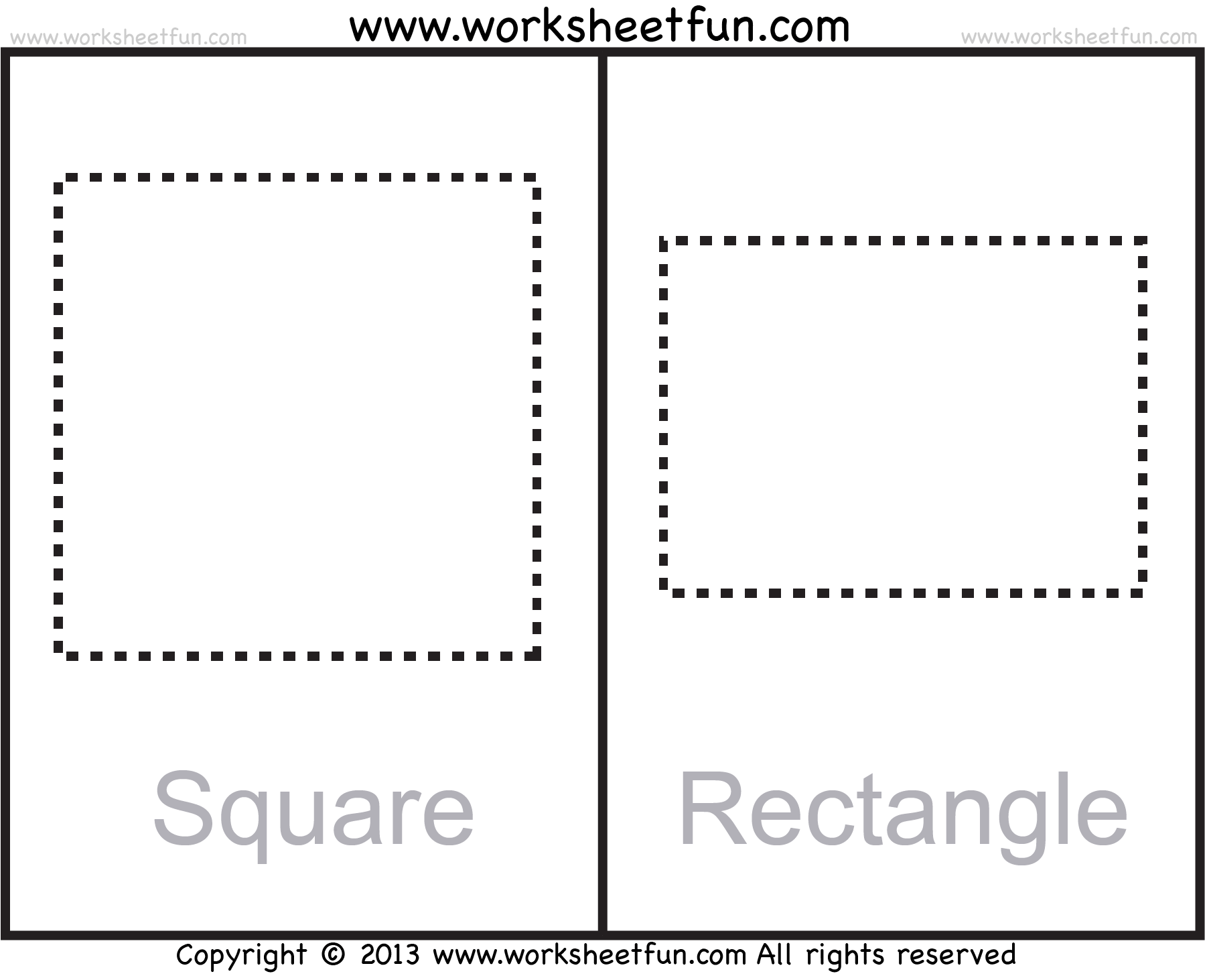Preschool Worksheet Square Shape