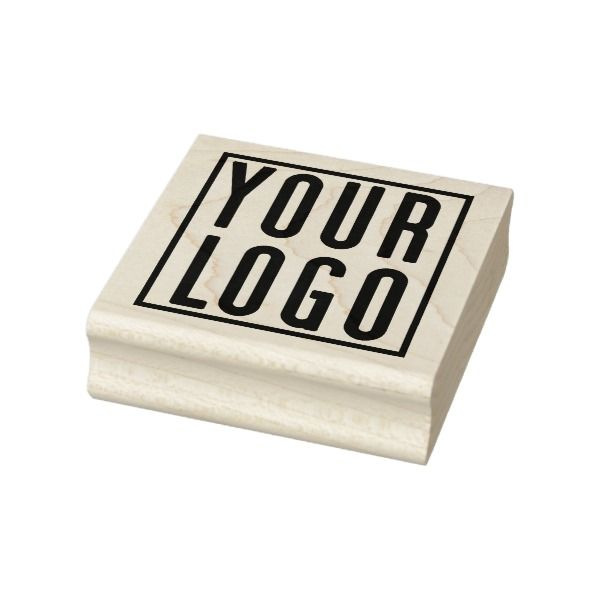Promotional Your Company or Event Logo Sqr Rubber Stamp Custom - office supply template