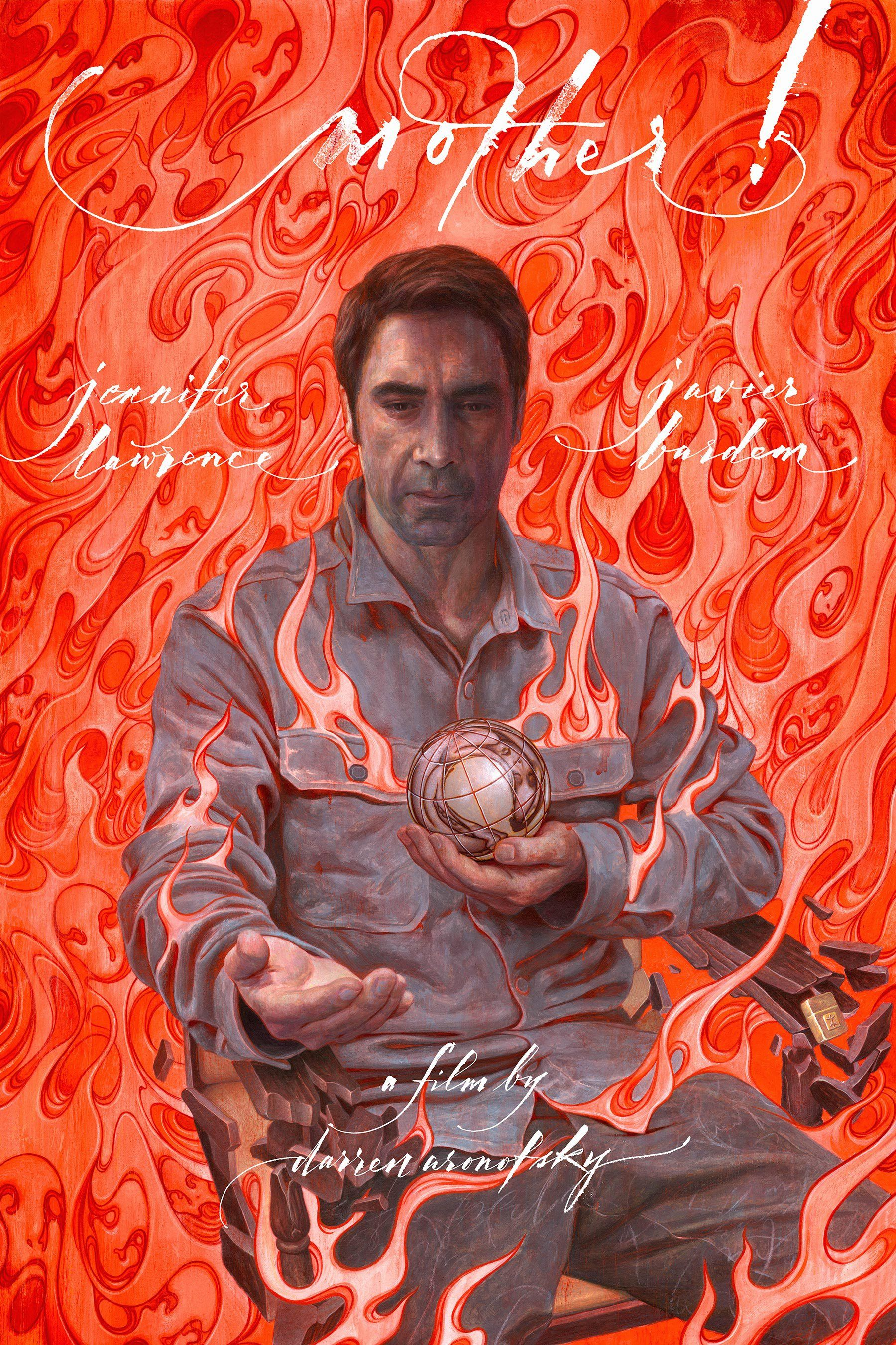 Javier Bardem Is Aflame In New Poster For Darren Aronofsky S Mother James Jean New Poster Movie Posters