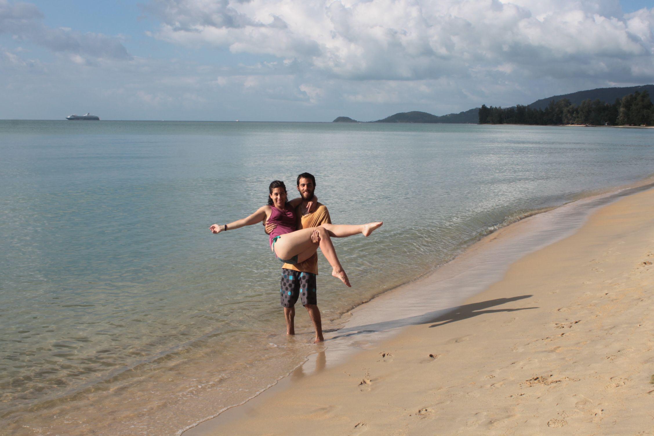 Disfrutando de Lipa Noi Beach