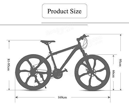 GreenMangoTree 26 X 17inch Mountain Bike 21 Speed High Carbon Steel ...
