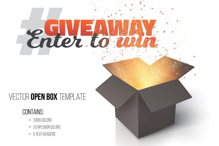 Giveaway Competition Vector Template Templates Business Card Logo Website Design
