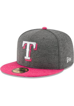 first rate d6eb9 c1293 Texas Rangers New Era Mens Grey 2017 Mothers Day AC 59FIFTY Fitted Hat