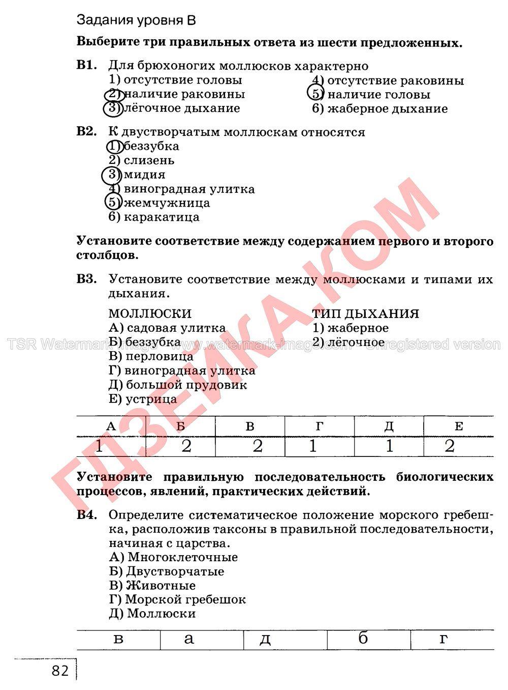 Ответы на лабораторные работы по биологии 8 класс т.с.котик