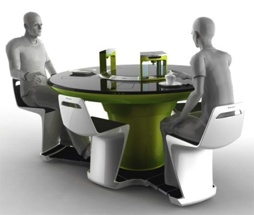All In One Futuristic Compact Kitchen By Petr Kubik Dining