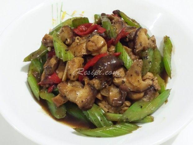 Ayam Masak Black Pepper Cendawan Merica Resep Ayam Memasak