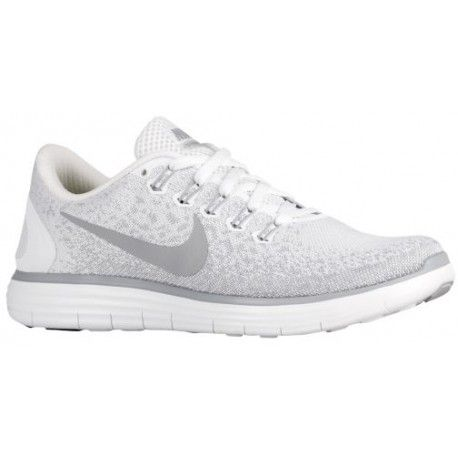 Nike Free RN Distance - Women's Running Shoes - White/Wolf Grey/Pure Platinum 27116100